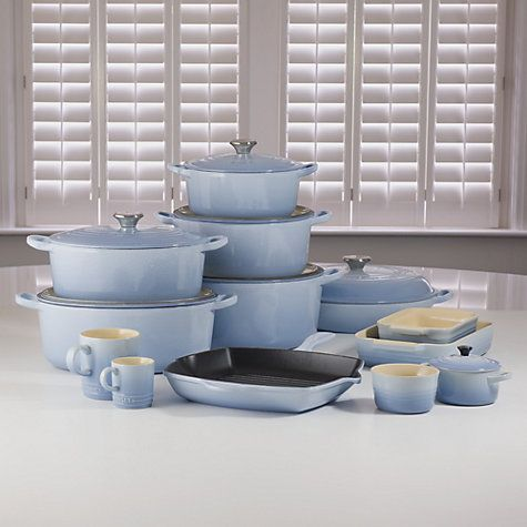 Buy Le Creuset Cookware Online at johnlewis.com, ok, this blue is ridiculously attractive