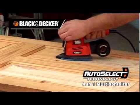 BLACK+DECKER™ 220W Autoselect® 4-in-1 Multischleifer KA280K - YouTube