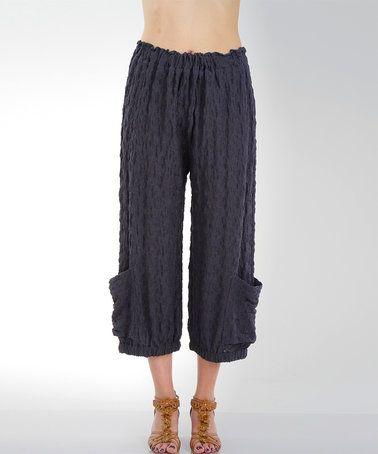 Love this Charcoal Textured Pocket Crop Pants - Plus Too on #zulily! #zulilyfinds