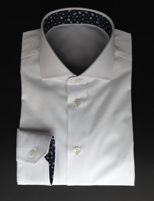 Design your Marchetti shirt. White pop queen shirt and with floral fabric as contrast. Try now: http://www.marchettiatelier.com/prodotto/camicia/