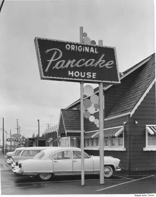 February of 1959, the Original Pancake House, located in Lakewood at 3701 Steilacoom Blvd, was prepared to celebrate its grand opening after extensive remodeling