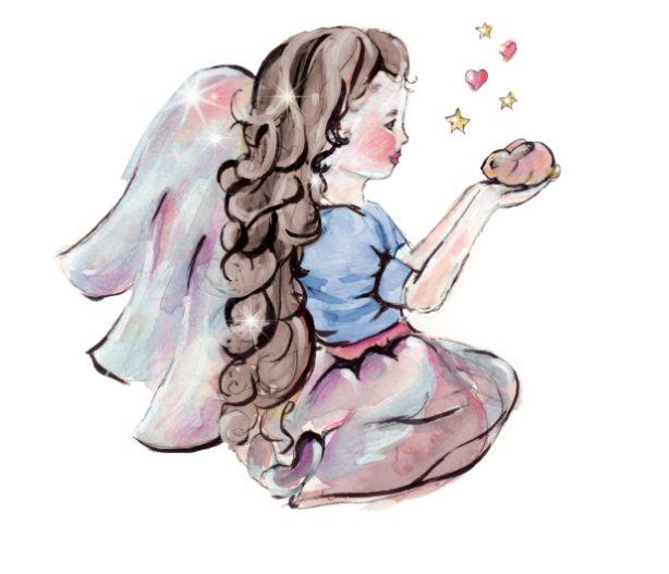 Engel Illustration als Kunstdruck oder Grußkarte!
