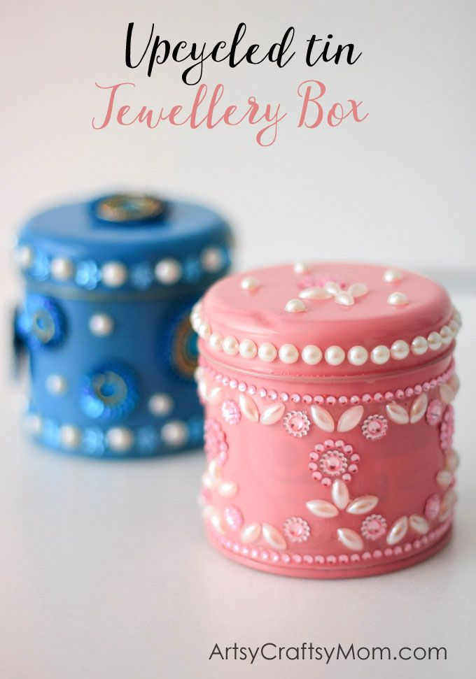 Kidmade Upcycled Tin Jewellery Boxes Christmas For The Whole