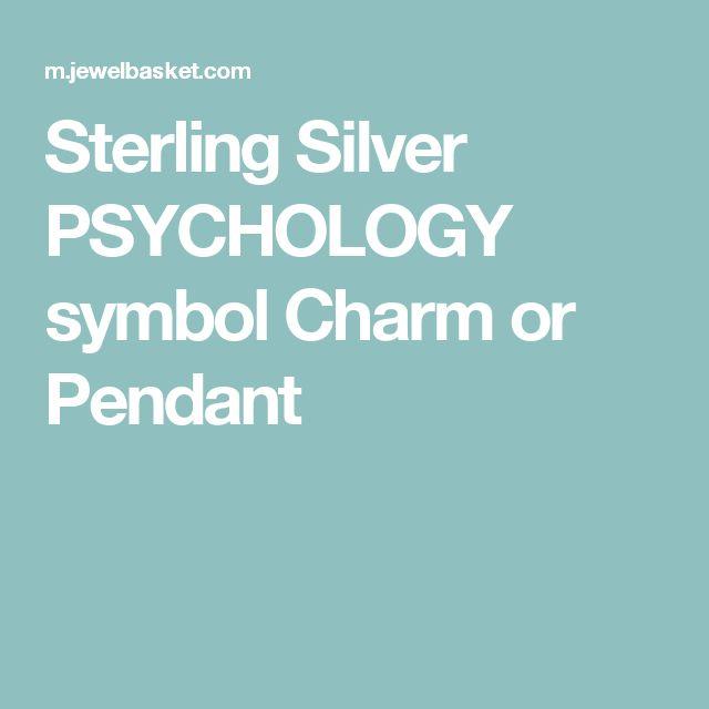 Sterling Silver PSYCHOLOGY symbol Charm or Pendant