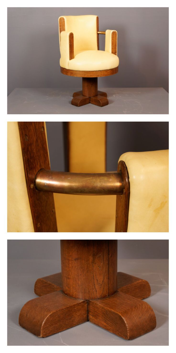 French modernist desk chair in the manner of Jules Leleu, c.1930s.