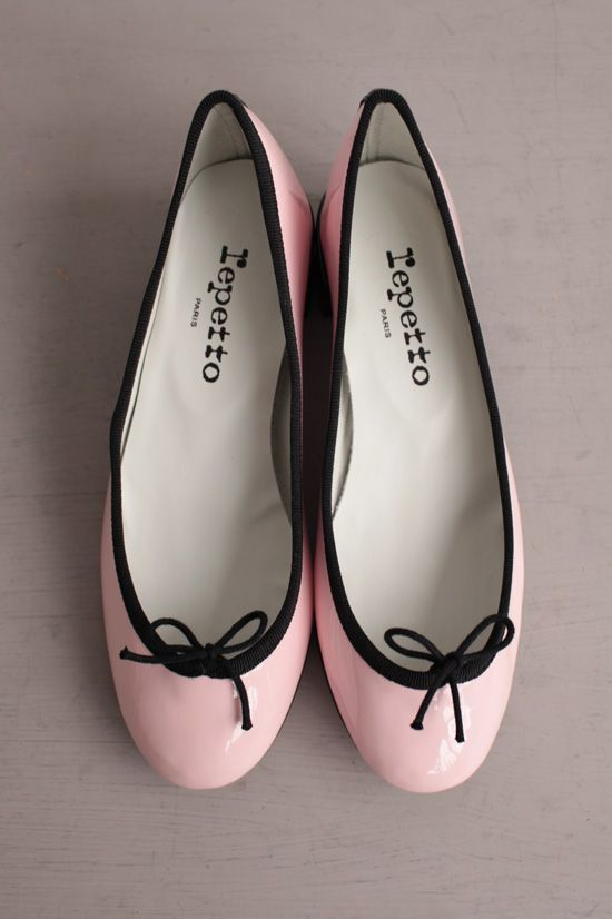 For those who can't walk in heels... Pretty light pink ballet flats with a small edgy black rim