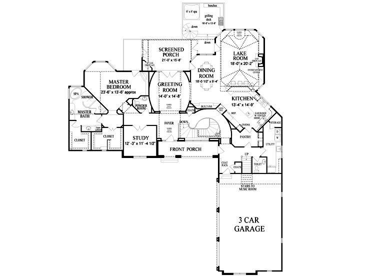 Waterfront Floor Plan I Love Love How The Garage Opens