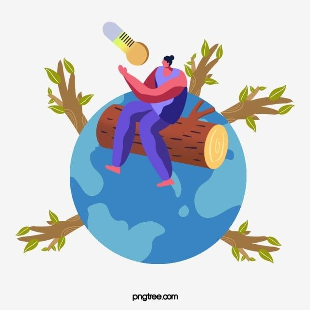 Hand Drawn Global Warming Tree Illustration Planting Trees Leaf Environmental Protection Png Transparent Clipart Image And Psd File For Free Download Tree Illustration Cartoon Globe Illustration
