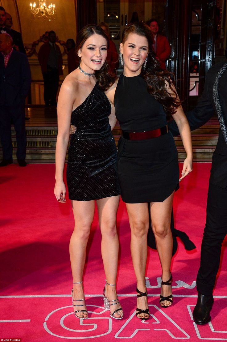 Little black dresses: Emily and Saara picked out glamorous little black dresses