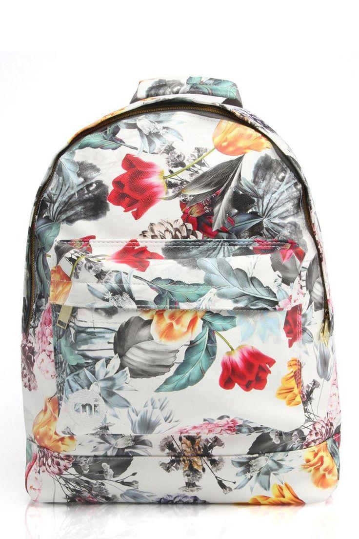 Deze Mi-Pac Gold rugzak met fleurige print is nu ook in de uitverkoop! #rugzak #tas #bloemen #tropische #print #floral #bag #sale #flowers