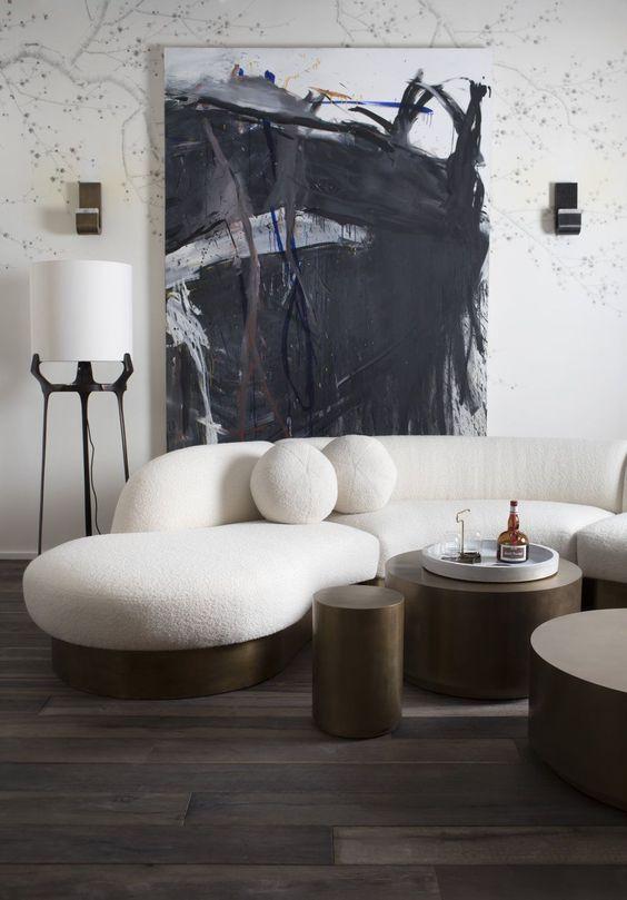 seductive curved sofas for a modern living room design walls rh pinterest com