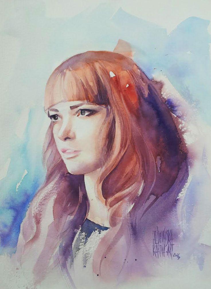 Karina Jaźwińska/ Watercolor/ Julia/ Size: 45x32 cm/ QOR