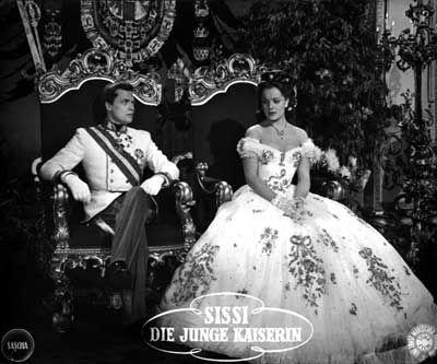 Karlheinz Böhm and Romy Schneider in Ernst Marischka's Sissi, die junge Kaiserin/ The Young Empress (1956)