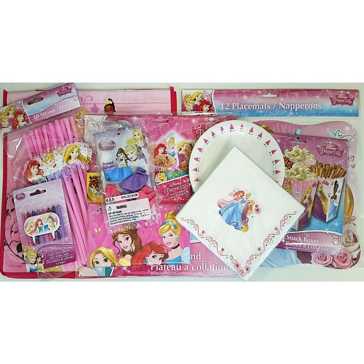 Disney Princess Birthday Party Pack Balloons Napkins Plates Straws Loot Bags D08 #Disney #BirthdayChild