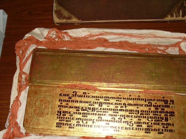 A Kammavaca is a holy book given to Buddhist monks upon their ordination.  Find more detailed information about this photograph:    http://library.sl.nsw.gov.au/search/X?t:(kammavaca)=2  From the collection of the State Library of New South Wales http://www.sl.nsw.gov.au