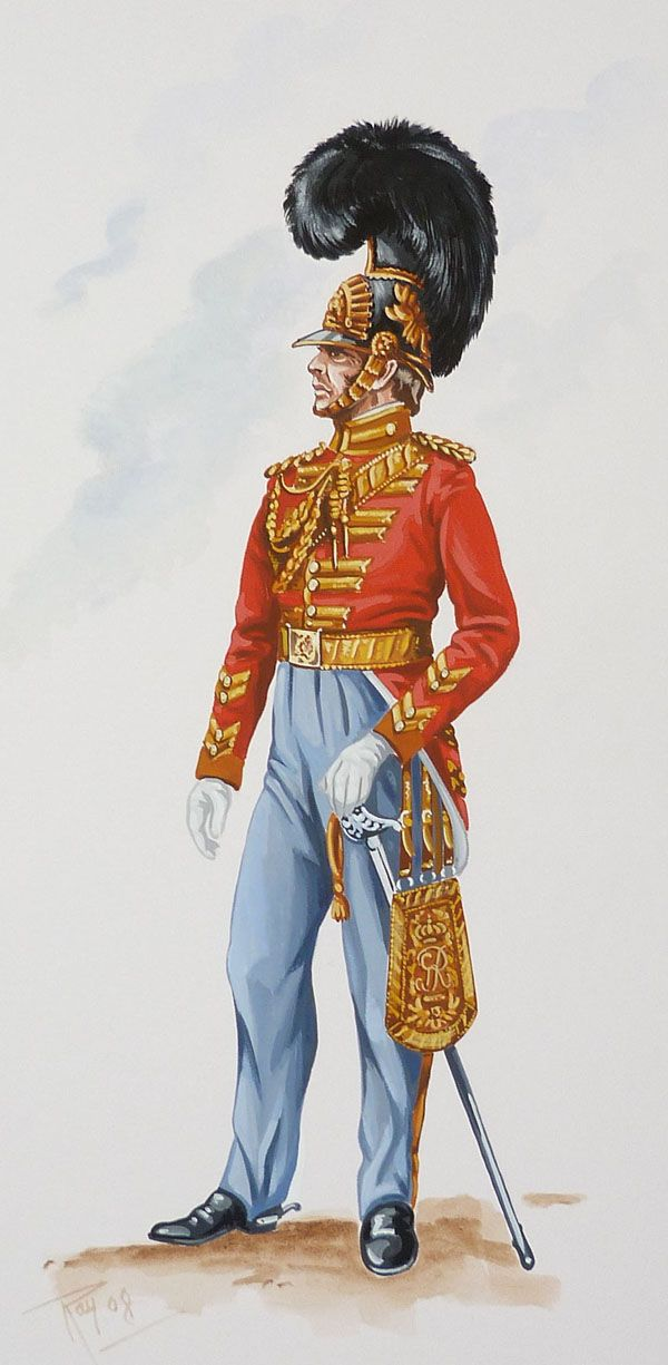 British; 3rd (Prince of Wales's) Dragoon Guards, Officer, 1828 by Ray FitzPatrick
