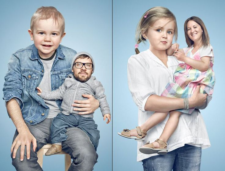 """Great Photo Manipulation Series """"Kindsköpfe"""" by Paul Ripke, a Photographer from Germany."""