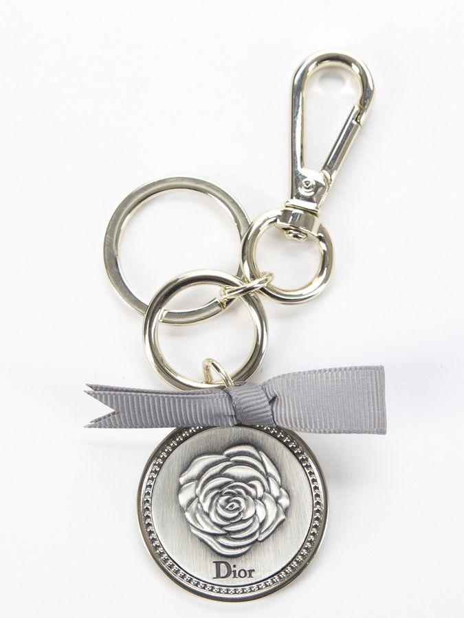 Christian Dior Silver La Rose Keychain