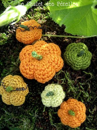 Modèle citrouilles au crochet du Chalet des Perelles. Merci !