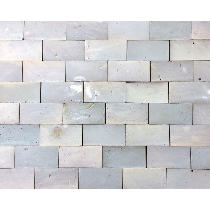 Zellige Tile White 15cm x 7.5cm