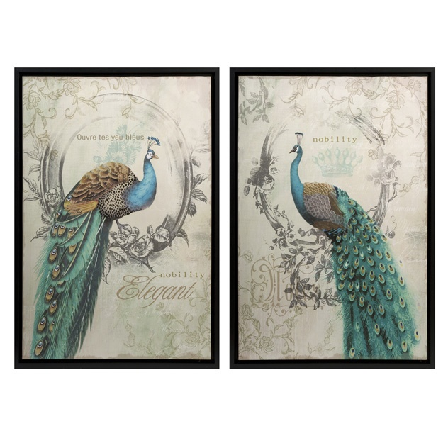 Peacock Art available at www.country-villa-decor.com in our French Country Inspiration Room