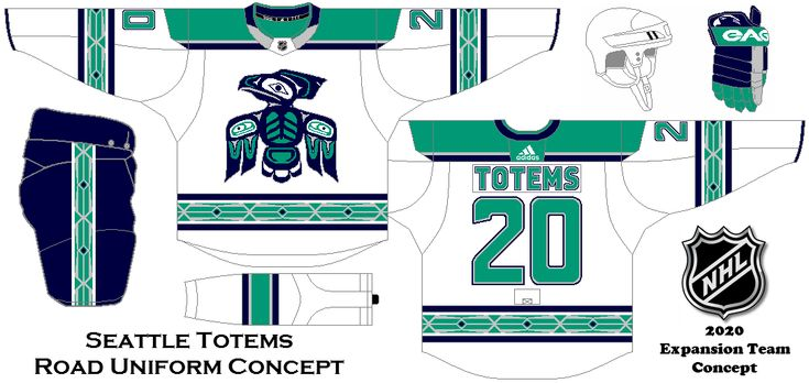 37625383036 Seattle Totems Road Uniform concept. My idea for a possible NHL expansion  team in Seattle. | Uniform Concepts | NHL, Hockey, The expanse