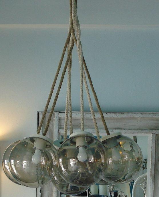 Handmade Light with Plastic globe and robe