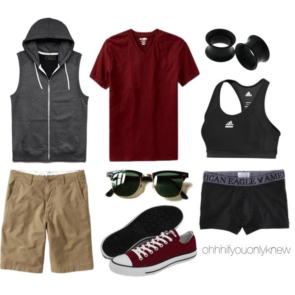 Untitled #224 by ohhhifyouonlyknew on Polyvore featuring adidas, Converse, Old Navy, 21 Men, American Eagle Outfitters and Ray-Ban
