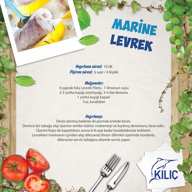 Marine Levrek  #KilicDeniz #yemek #tarif