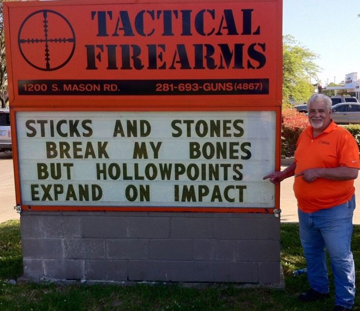 Spunky Katy, Texas, Gun Store                                     Under Political Attack Fights Back                                     With Hilarious Signs