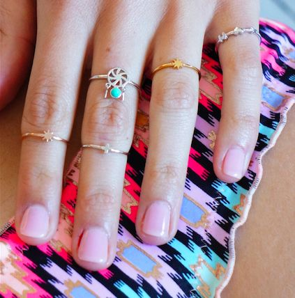 Bo Zenith positivity, catch your dreams and cross my heart tiny stack rings ~ bozenith.com.au #stackingrings #sydneyjewellery #bozenith