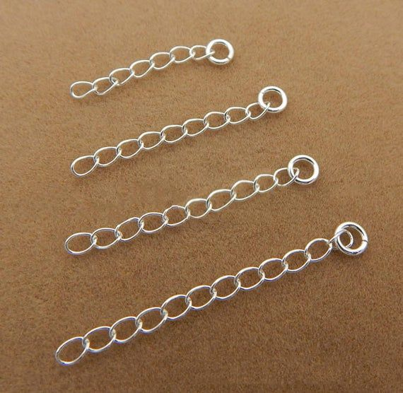 Sterling Silver Extension Chain Extender Etsy In 2021 Chain Extenders Sterling Silver Findings Sterling Silver Cleaner