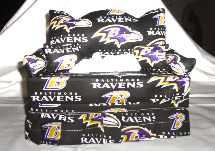 Baltimore Raven Tissue Box Couch