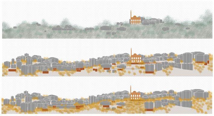 4. Mansiyon, Çekirge Meydanı Mimari, Kentsel Tasarım ve Peyzaj Tasarımı Yarışması