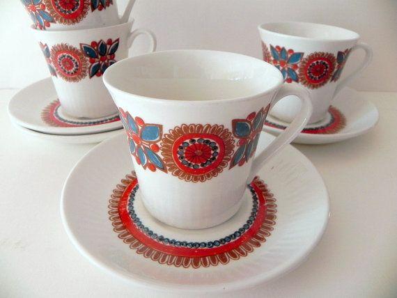 Figgjo Flint Norway Turi design Astrid 4 cups by beautifulsweden