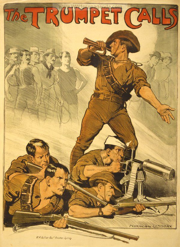 This picture encouraged people to join the army and fight for their country. - Jack and Junyu