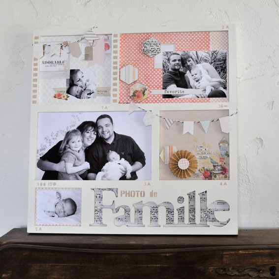 modele scrapbooking cadre photo. Black Bedroom Furniture Sets. Home Design Ideas