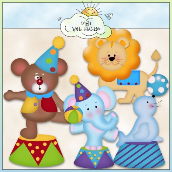 Circus Animals 1 - Non-Exclusive Clip Art