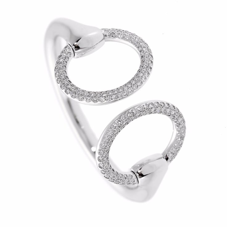 Hermes Diamond Cuff Bangle Bracelet | Opulent Jewelers | OpulentJewelers.com