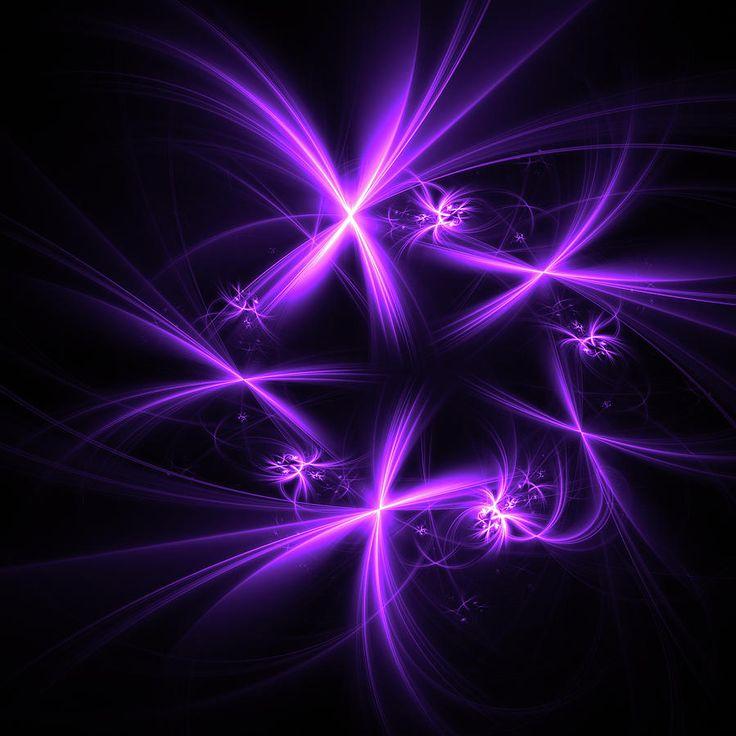 Abstract Digital Art - Purple Fireworks  by Mariia Kalinichenko. Beautiful fractal created in Chaotica program. #MariiaKalinichenko