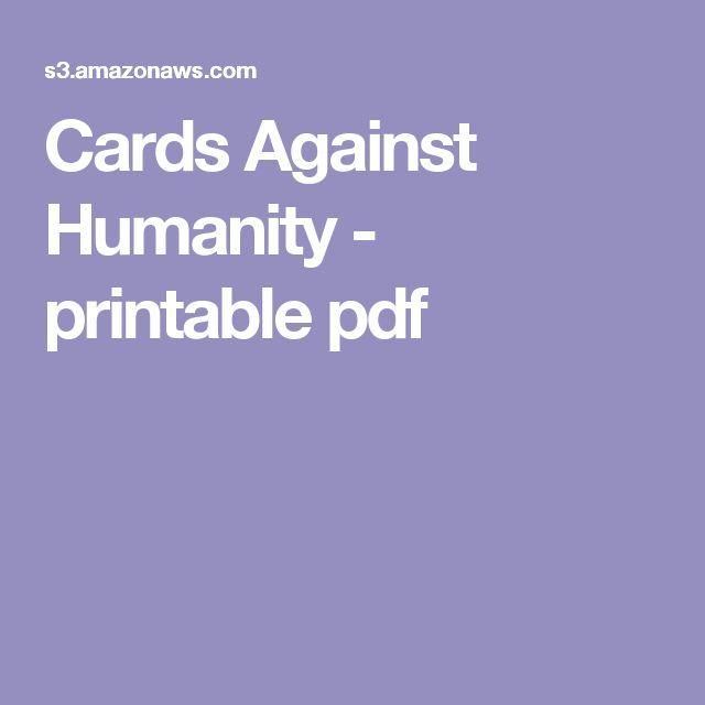 Cards Against Humanity - printable pdf