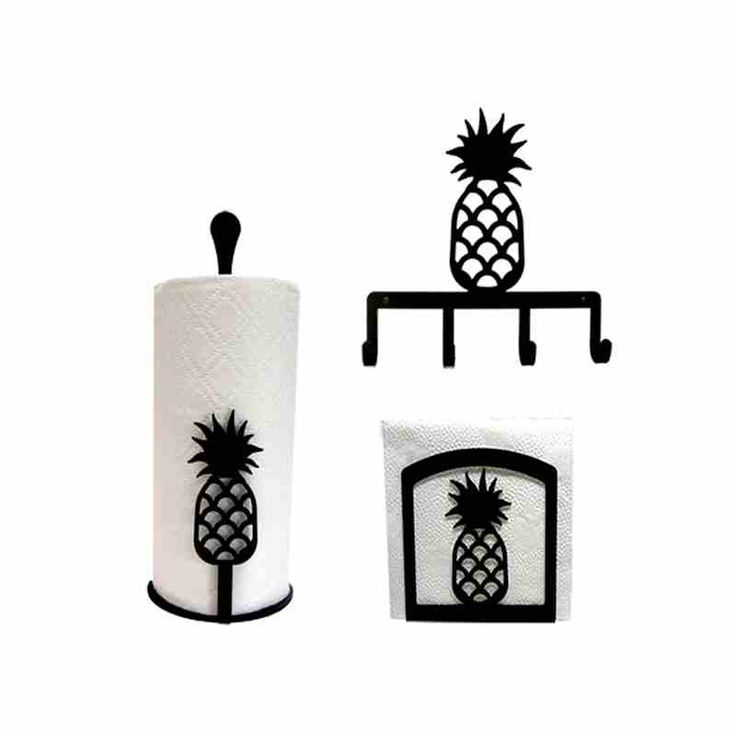 The Pineapple Kitchen Decor Combo Set is the perfect kitchen decor for pineapple lovers. Made with High Quality Wrought Iron.