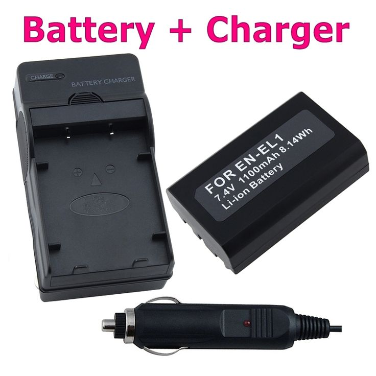 Insten Camera Battery and Charger for Nikon Coolpix 4500/ 5700/ 8700 #504327