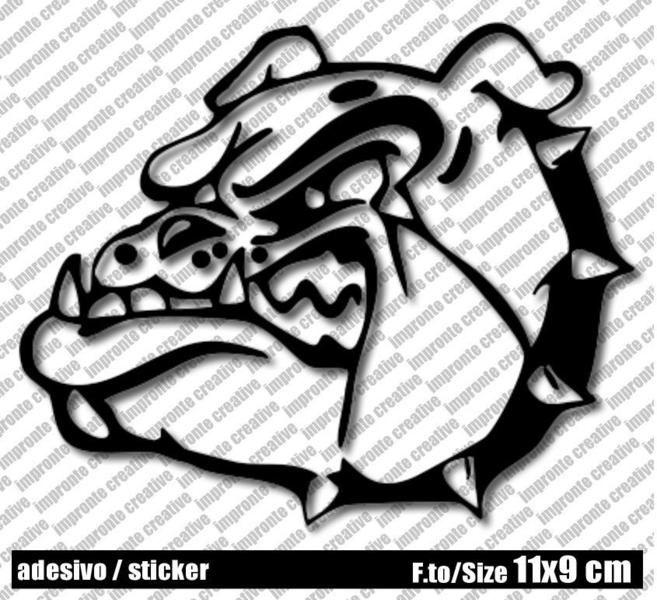 Adesivo Sticker BULLDOG di impronte creative shop su DaWanda.com