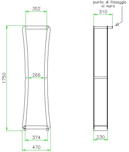 Portalegna in acciaio inox satinato e massello di rovere. H=175cm #portalegna #inox #satinato  Brennholz halter