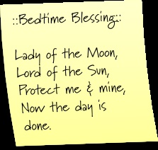 Bedtime Blessing  Post-It Note Tuesdays: Edition 6 | Mom's a Witch