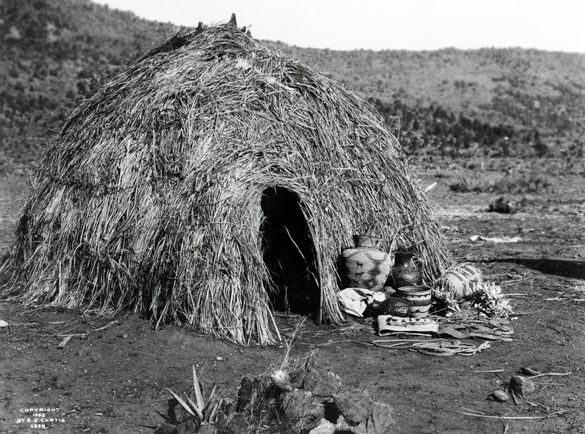 Apache Wickiup, 1903, Edward S. Curtis, no location