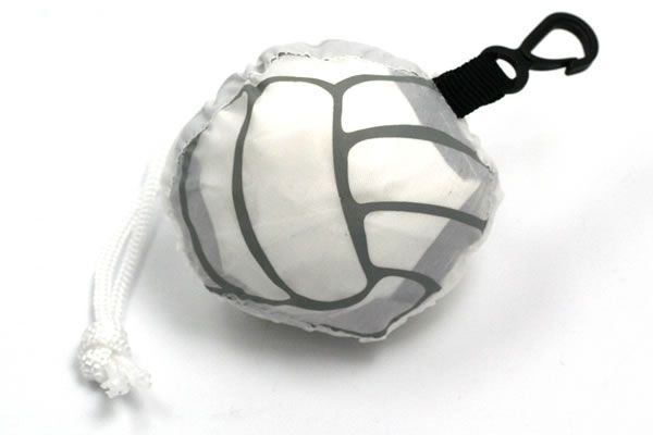 Key-ringed compact tote bag.