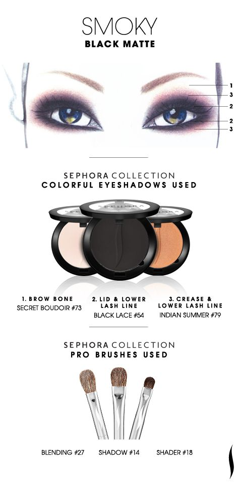 SMOKY: Black Matte HOW TO. #sephoracollection #sephora #eyeshadow [PURCHASED BOTH INDIAN SUMMER AND BLACK LACE TODAY...VEGAS]