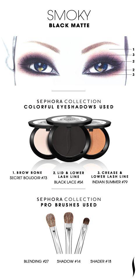 SMOKY: Black Matte HOW TO. #sephoracollection #sephora #eyeshadow @Refinery29